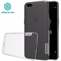 NILLKIN Nature TPU Clear Oneplus 5 Case Transparent Soft Luxury Back Cover For One Plus 5