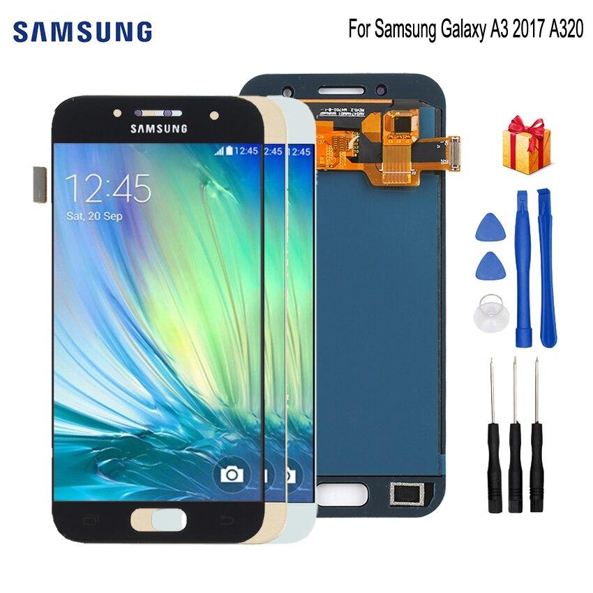 Original pour SAMSUNG Galaxy A3 2017 A320 LCD affichage écran tactile numériseur remplacement pour Samsung A320F écran SM-A320F LCD