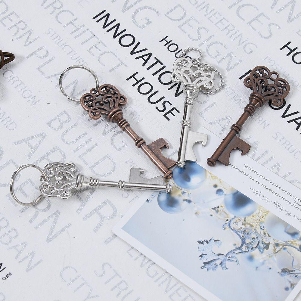 A Forma di chiave di Keychain Apri di Bottiglia A Forma di In Lega di Zinco di Colore Argento Rame Anello Chiave Apri Bottiglia di Birra Creativo Unico Regalo 2