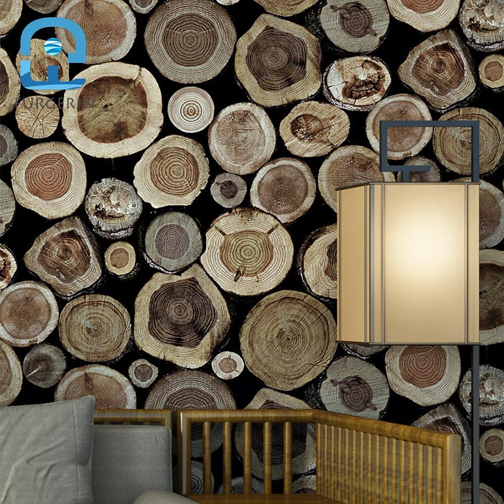 FURGERIN Bedroom Wallpaper Roll Wood Round Log Wall Paper 3d wallpaper walls wall paper sticker Wallpapers for Living Room