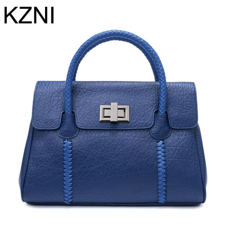 ФОТО KZNI women genuine leather handbags designer bag woven bag women crossbody bag bolsas femininas bolsas de marcas famosas L122509