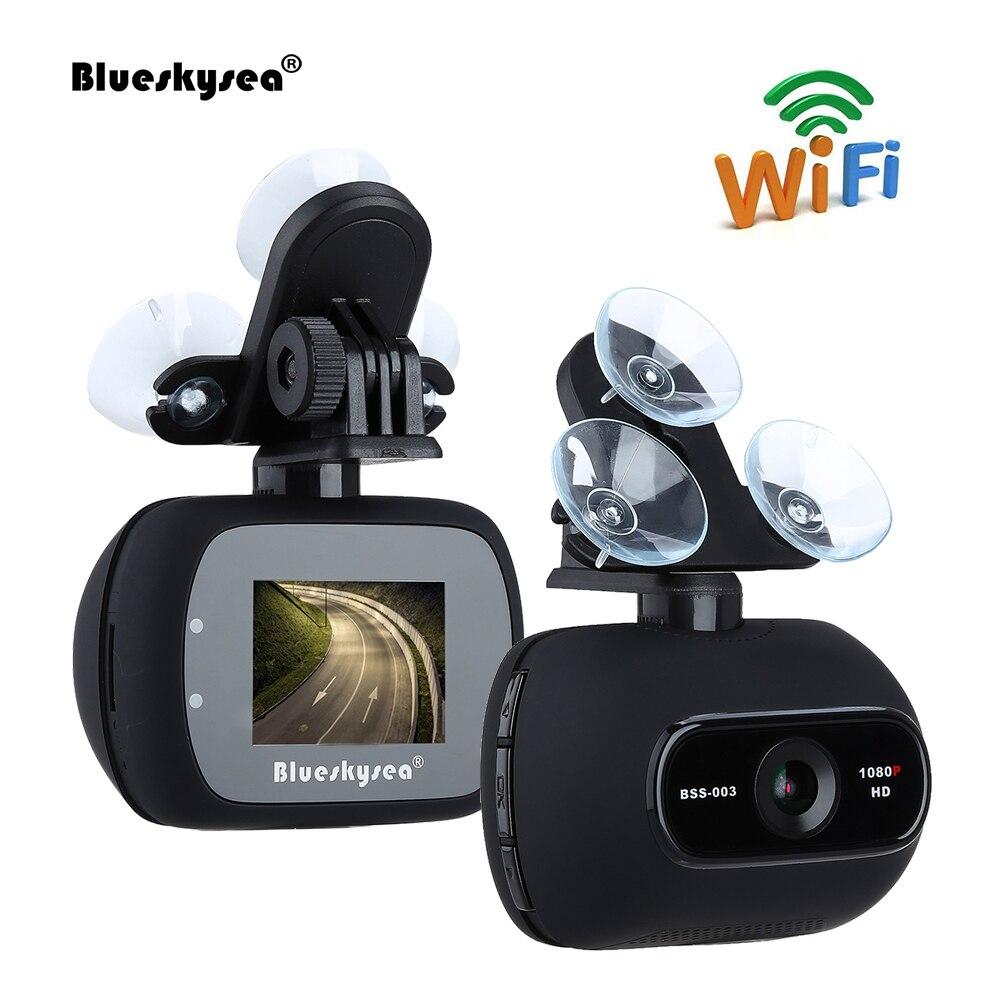 Blueskysea Видеорегистраторы для автомобилей BSS003 HD 1080 P 2MP Wi-Fi автомобилей Даш Камера Новатэк 96658 регистраторы с магнитным кронштейн c