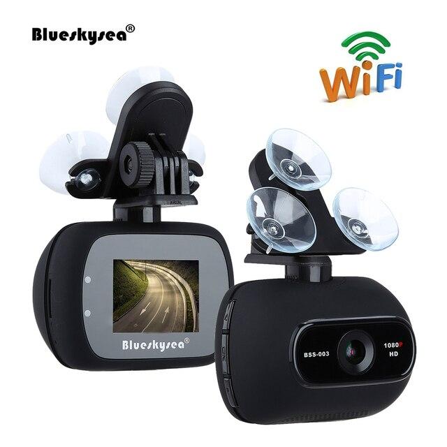 Blueskysea Car DVR BSS003 HD 1080P 2MP Wifi Car Dash Camera Novatek 96658 Dash cam with Magnetic Bracket c