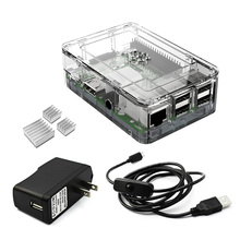 Best Buy Elecrow 4 in 1 Raspberry Pi 3 Starters Kit 3PCS Heatsinks Clear Case Power Supply Micro USB with On/Off Switch US Plug