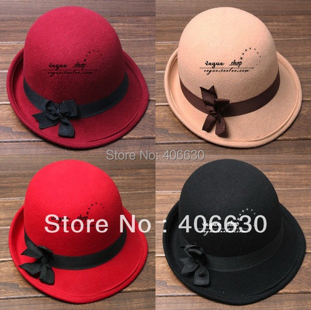 Winter Casual Wool Felt Bucket Hats For Women Chapeu Fedoras Female Cloche Church Hats Free Shipping SDDW-002
