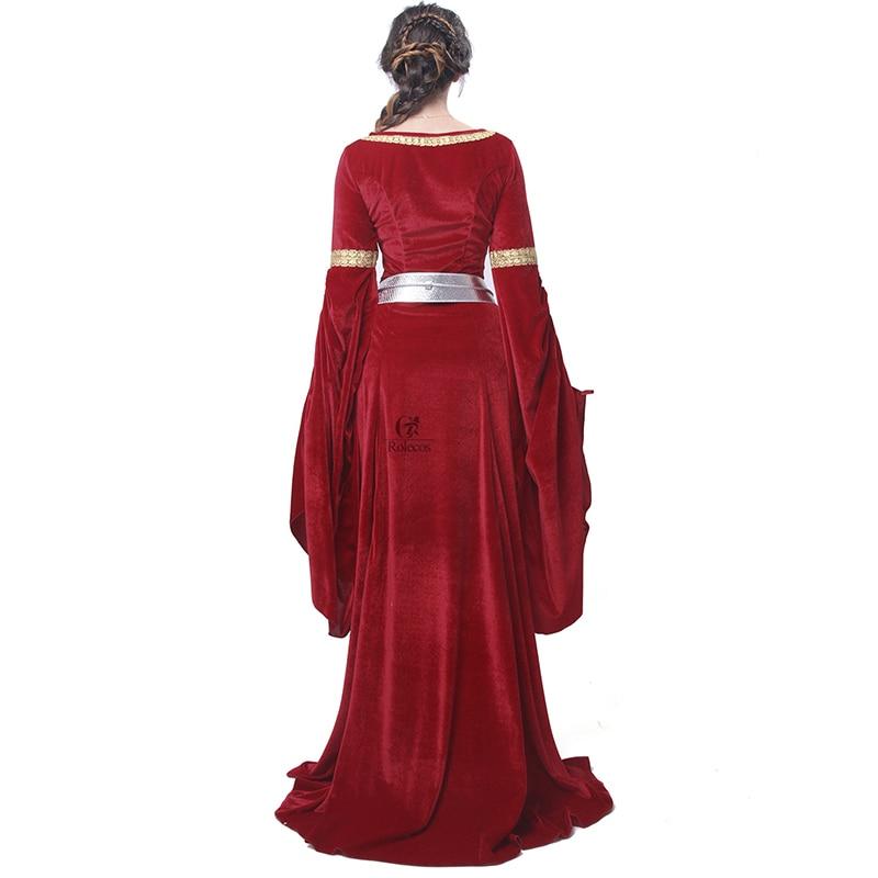 ROLECOS Brand Women Red Blue Medieval Renaissance Gaun Malam Victoria - Kostum karnival - Foto 3