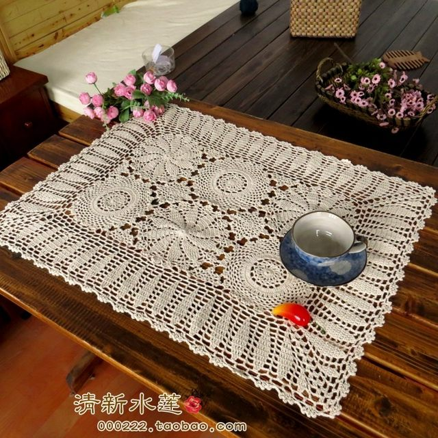 Attirant Fashion USA Design ZAKKA Crochet Table Cloth Fashion Vintage Lace Knitted  Table Runner Rectangular Sofa Cover For Home Decor