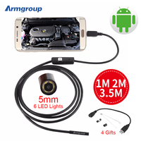 3 5m 2m 1m Micro USB Android Endoscope Camera 5 5mm Len Snake Pipe Inspection Camera