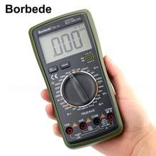 Borbede BD-19 Digital Multimeter LCD DC AC Voltage Current Resistance Capacitance NCV True RMS Diode Tester 2000 Counts цена и фото