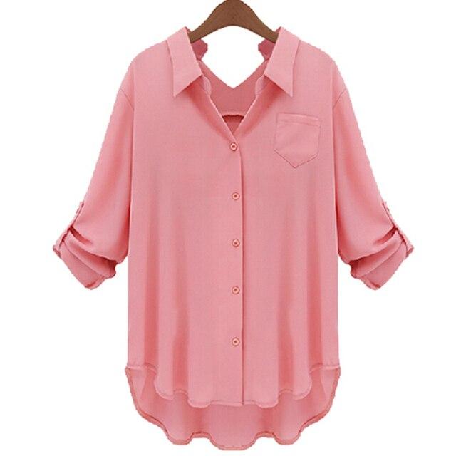 Summer Style 2015 Women Shirt blusas Plaid Print Three Quarter Loose Plus Size Shirts blusa feminina