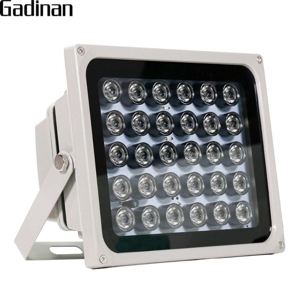 GADINAN 30 pcs <font><b>LEDs</b></font> <font><b>850nm</b></font> IR Illuminator for Night Vision Waterproof <font><b>LED</b></font> Infrared Light for CCTV Security Surveillance Camera