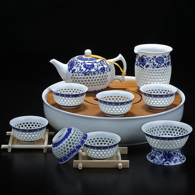 Hollow Honeycomb Gaiwan Gong Fu Tea Set 2