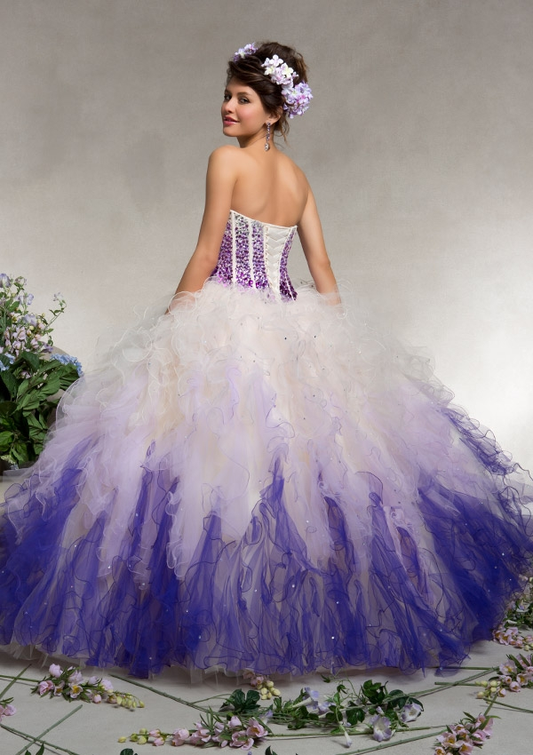 Aliexpress.com : Buy Blue and White Quinceanera Dresses with ...