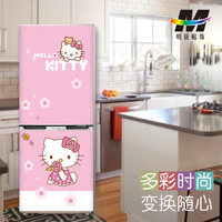 60*150cm Hello Kitty Cartoon Design Refrigerator Stickers Renovation Film Fridge Magnet Air Conditioning Impermeable Decorations