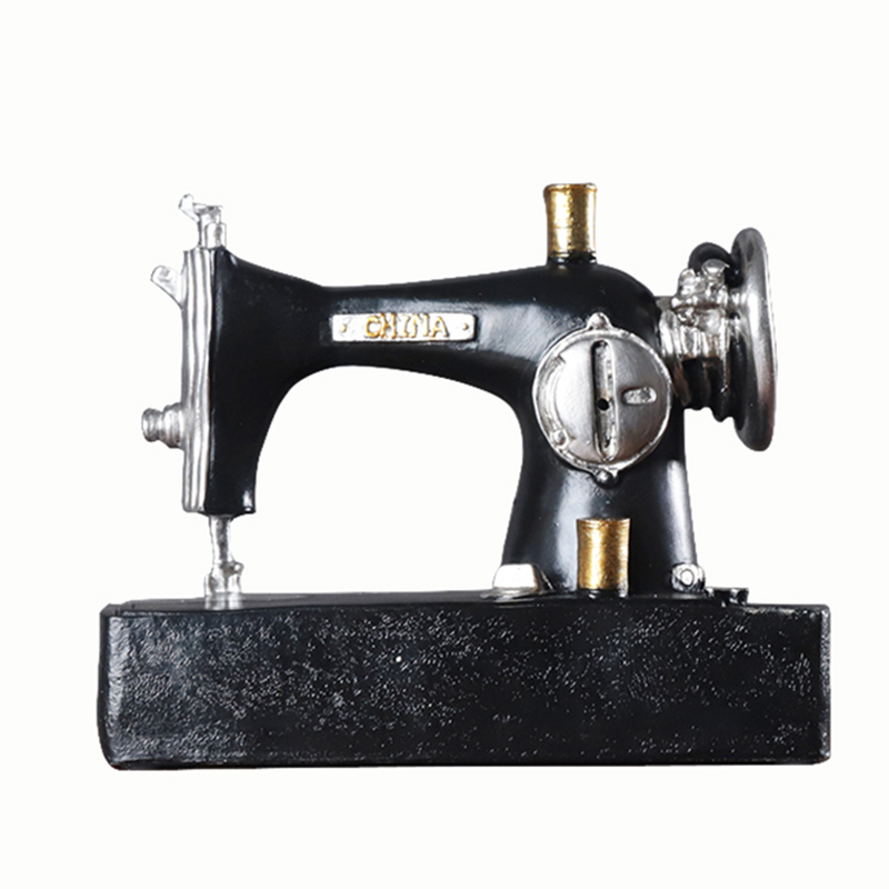 Vintage Sewing Machine Home Decor Ornaments Retro Furniture Figurines Miniatures Home Decoration Accessories Crafts Kids Gifts