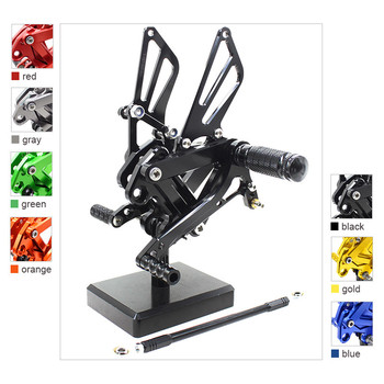FX CNC Motorcycle Rearsets Foot Pegs Footpeg Rear Sets Brake Shift Lever For KAWASAKI ZX9R ZX 9R 1999 2000 2001 2002 2003