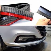 цены Car Protection Car Bumper Universal Front Lip spoilers 2.5M/8.2 ft 50 mm Wide Carbon Fiber Rubber Exterior Strip Car Side Skirts