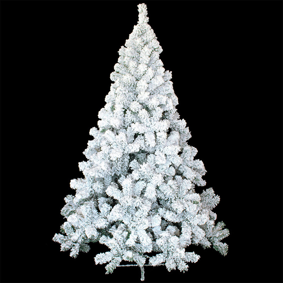 Plastic Artificial Christmas Trees With White Snow