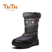 ФОТО tntn 2017 winter outdoor boots feathers waterproof hiking boots  snow womens shoes womens fleece shoes warm