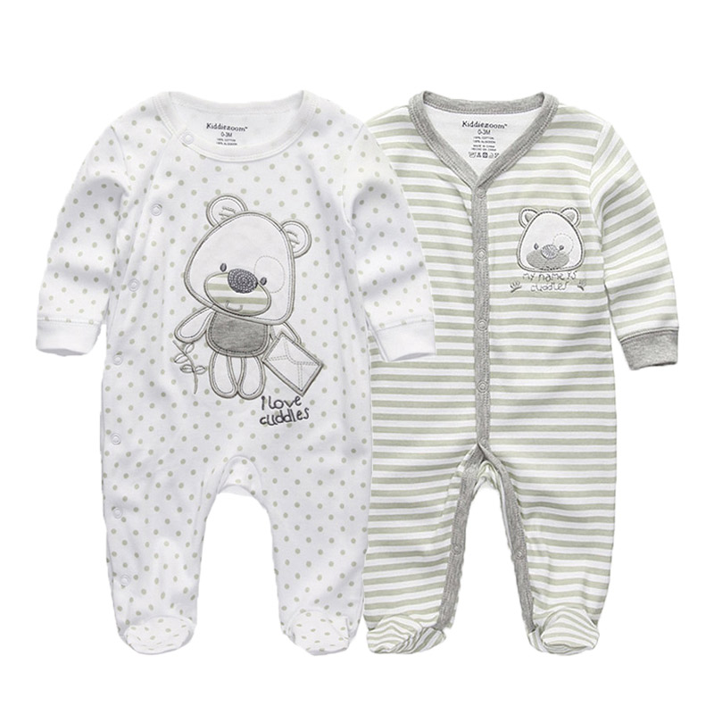 2 PCS/lot newborn long sleeve winter baby rompers jumpsuit 2019 baby rompertjes cotton ropa bebe baby boy girl clothesRompers   -