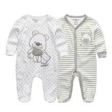 2 sztuk/partia noworodka z długim rękawem zima dziecko pajacyki kombinezon 2019 dziecko rompertjes bawełna ropa bebe baby boy dziewczyna ubrania