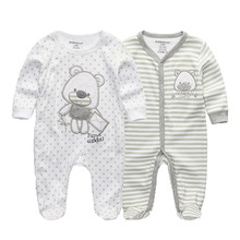 2 unids/lote recién nacido de manga larga de bebé de invierno mono 2019 bebé rompertjes de algodón ropa de bebé ropa para bebé (niño o niña)