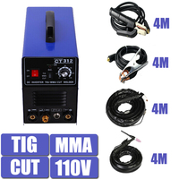 Multifunction Welding Machine CT312 Tig MMA Plasma Cutter Cutting Equipment 4 meters torch 4 meters clamp 110V single phase