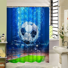 Football Basketball Print Shower Curtain For Sport Fan Bathroom Decor Man Boys Gift China
