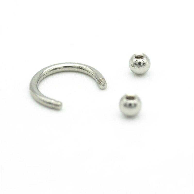 Détails de l/'acier courbé Barbell Double CZ Navel Belly Button Ring Body Piercing