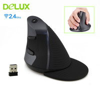 Delux M618 Wireless Ergonomic Vertical Mouse 2.4G 6 Button 800/1200/1600 DPI Mice Computer Gaming Mause sem fio for PC Laptop