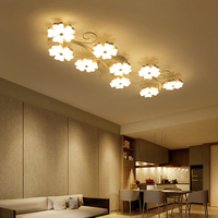 Plum Blossom Modeling Surface Mounted Modern Ceiling Chandelier Lights For Living Room Bedroom Chandelier Acrylice Lampshade