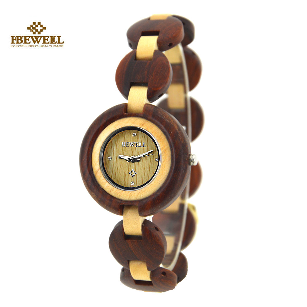 BEWELL Wood Watch Vintage Bamboo Design Women Watches Exquisite wooden Ladies Quartz Watch Clock Wristwatch With Gift Box 010A цена