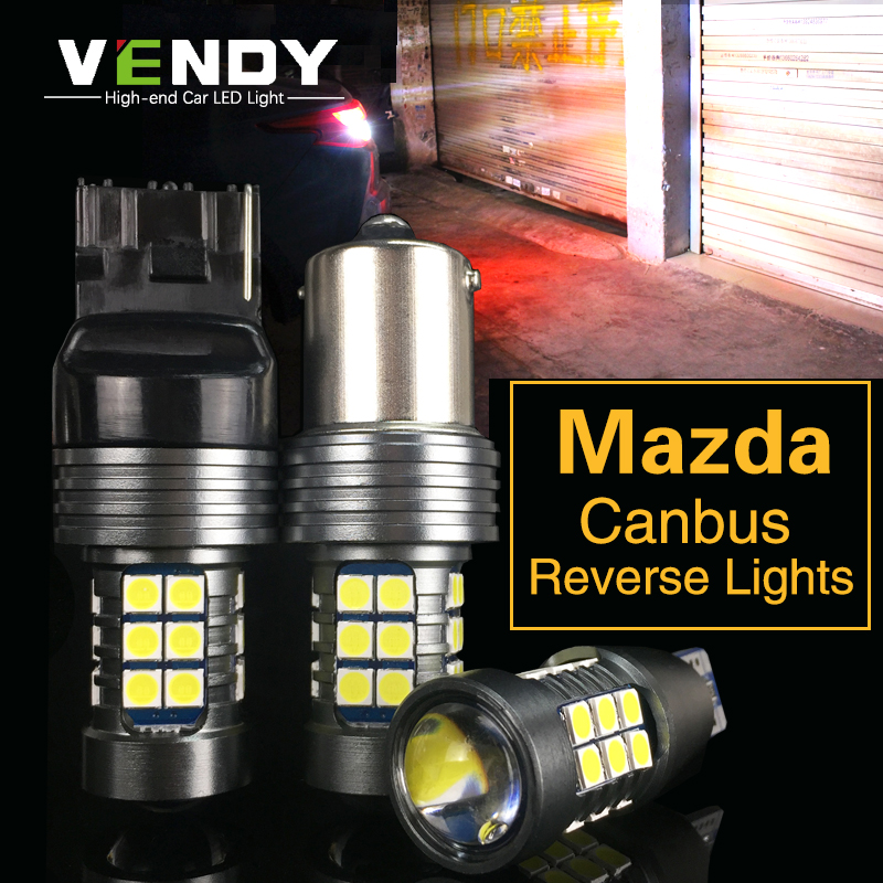 1pcs Car <font><b>LED</b></font> Reverse Light Canbus Lamp W16W T15 W21W P21W For <font><b>Mazda</b></font> 3 2 Axela 6 gg gh 8 CX-5 cx5 Atenza 323 MX5 CX3 RX8 <font><b>cx7</b></font> cx9 image