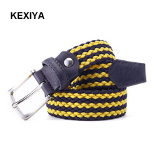KEXIYA2017 Designer Men Belt Men Woven Elastic Belt Luxury Fashion Accessories Stretch Fabric Knitted Jeans Casual Canvas Belt