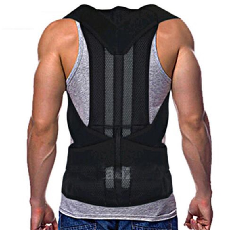Shoulder Support Posture Correction Belt Men Women Magnetic Corset Back Medical Belt Lumbar Posture Corrector Brace Back Student