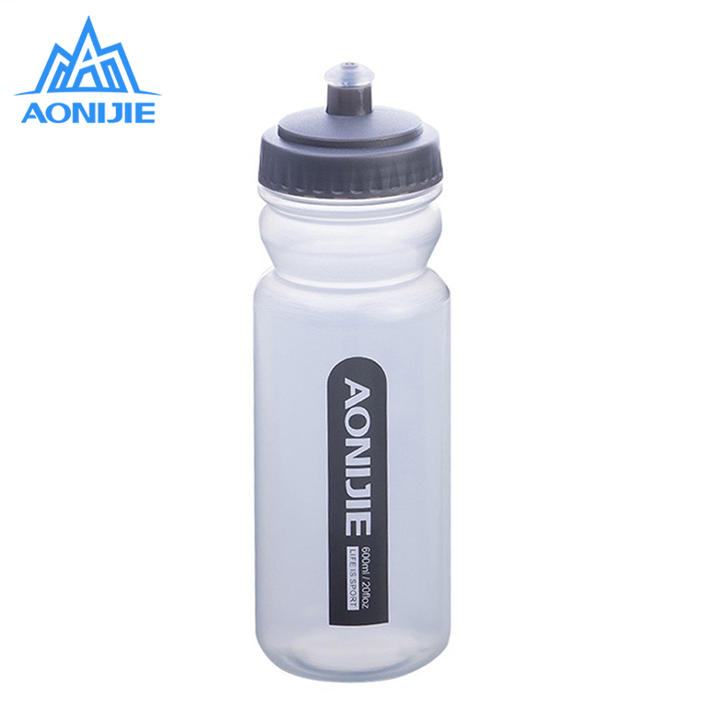 AONIJIE Sport Water Bottle 600ML for Running Wide Mouth BPA-Free Driking Water Bottle Leak Proof for Running Camping Hiking