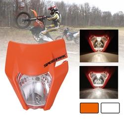 Moto rcycle universal farol luz principal para 2017 18 ktm headligt exc xcf sx f smr enduro bicicleta da sujeira super moto e-moto