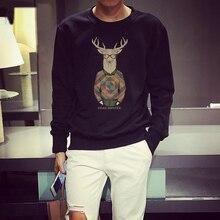 Hirschkopf Männlichen Körper Hoodies Gleichen Als Shawn Yue Tide Marke Männer Kleidung 2016 Frühling Herbst Casual Koreanische Baumwolle Sweatshirts