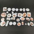 1:12 Lindo MINI Dollhouse Miniatura Cocina utensilios taza plato placa 33 unids con rodajas de fruta envío gratis