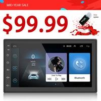 $99,99 Android 6,0 Автомобильный Радио 2din стерео 7 Авто Радио Стерео сенсорный экран универсальный плеер GPS с поддержкой Bluetooth радио WI FI