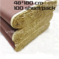 Chinese xuan paper, rice paper, thick burrs xuan paper, 48 * 180 half cooked, for calligraphy and painting