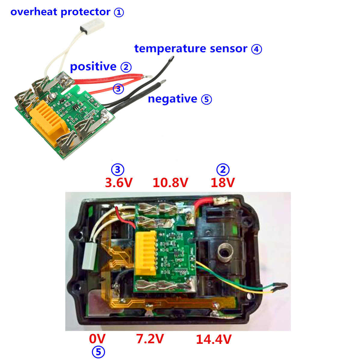 Detail Feedback Questions About Dawupine Lithium Ion Battery Pcb Makita Charger Wiring Diagram Protect Circuit Module Board For Drill Chip Electric Tools Over Charge Short 18v