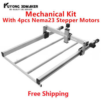 High precise LEAD CNC Router Machine Mechanical kit with 4pcs Nema23 Stepper Motors - DISCOUNT ITEM  6% OFF All Category