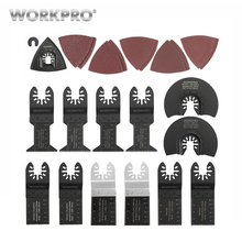 WORKPRO 23PC Oscillating Saw Blade for Dremel Bosch Carbon steel Quick Release Blades Sandpaper