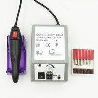 ネイルアートドリルプロフェッショナル電気マシンマニキュアペディキュアツールセットキット+ 30ピースドリル爪ビット