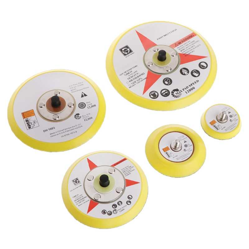 "ใหม่ 2 ""50 มม./3"" 75mm/4 ""100 มม./5"" 125 มม. /6 ""150 มม. ขัด Sander Backer Plate Napping Hook Loop Sanding Disc Pad"
