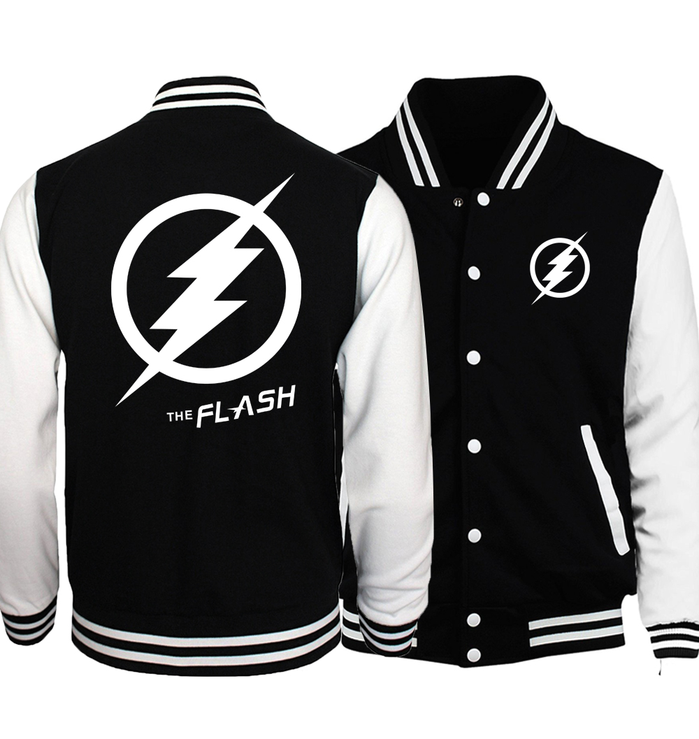 2017 The Flash Cosplay Baseball Jackets Men Women Unisex Brand Tracksuits Spring Autumn Bodybuilding Fitness Sweatshirts S-5XL