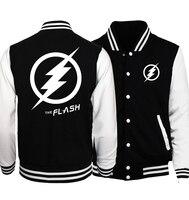 2017 the flash cosplay baseball jackets men women unisex brand tracksuits spring autumn bodybuilding fitness sweatshirts S 5XL