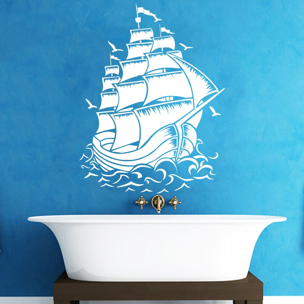 Pirate Ship Decal Pirate Nursery Wall Decal For Baby Kids Or