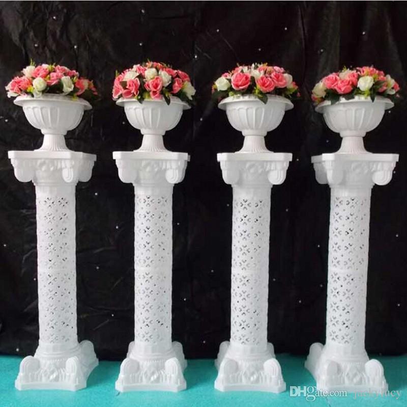 Europese stijl 98 cm hoogte wit luxe Plastic holle Romeinse kolom - Feestversiering en feestartikelen - Foto 3